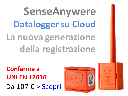 Datalogger su Cloud SenseAnywere