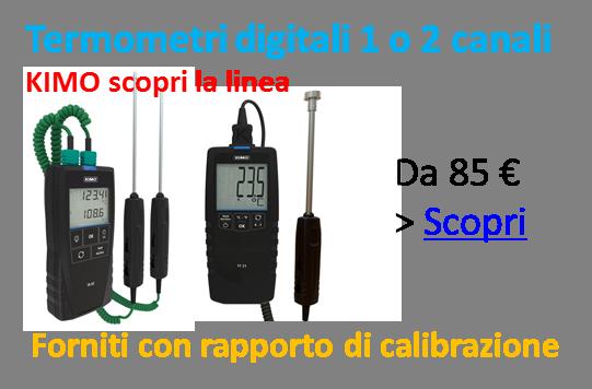Termometri digitali KIMO