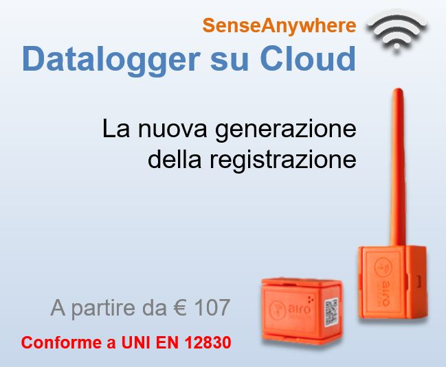 AiroSensor - datalogger intelligente con cloud